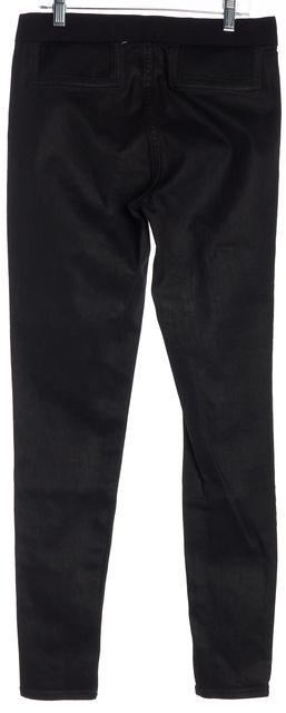 ELIE TAHARI Black Mid-Rise Elasticized Wait Pull On Skinny Jeans