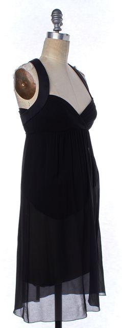 EMILIO PUCCI Black Silk Empire Waist Dress