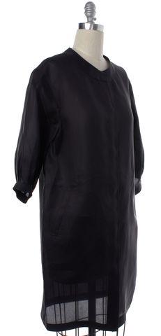 EMILIO PUCCI Black Silk Button Down Shirt Dress