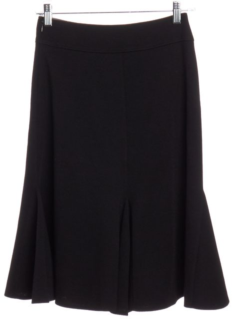 EMILIO PUCCI Black Wool Flare Skirt