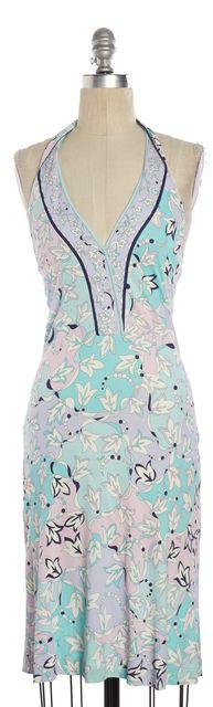 EMILIO PUCCI Shades of Blue Print Halter Dress