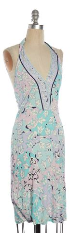 EMILIO PUCCI Shades of Blue Print Halter Dress