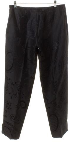 EMILIO PUCCI Black Ornate Trousers Pants