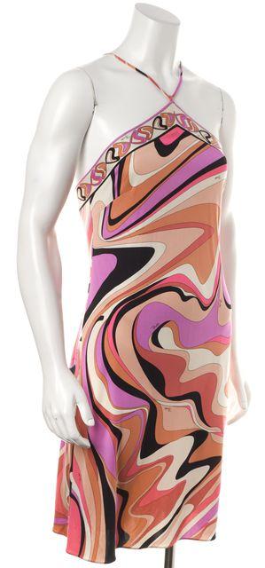 EMILIO PUCCI Pink Purple Silk Stretch Dress
