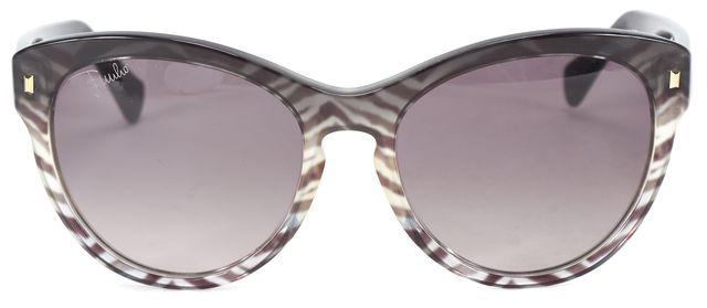 EMILIO PUCCI Black Clear Acetate Gradient Lens Cat Eye Sunglasses
