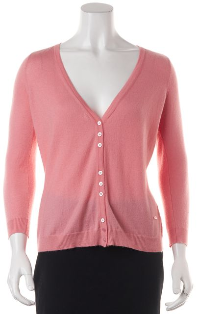 EMILIO PUCCI Pink Long Sleeve Button Down Cashmere Cardigan