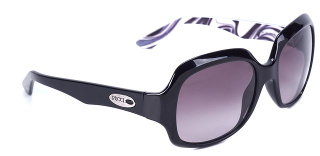 EMILIO PUCCI Black Cold Insert Rectangular Sunglasses
