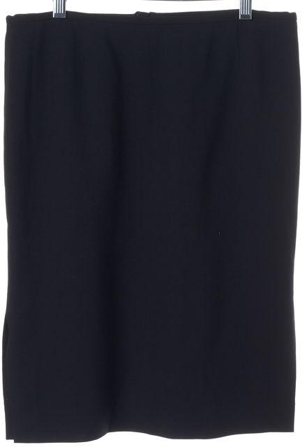EMPORIO ARMANI Black Side Slits Classic Pencil Skirt