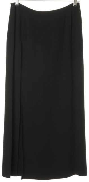 EMPORIO ARMANI Black Pleated Long Skirt