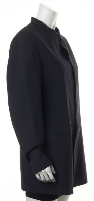 EMPORIO ARMANI Black Striped Wool Basic Jacket