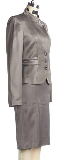 EMPORIO ARMANI Gray Skirt Suit Suit Set