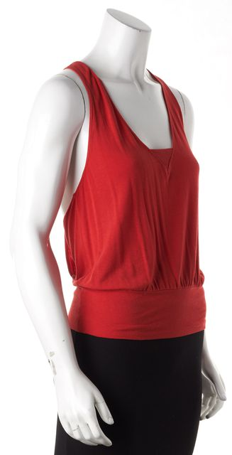 EMPORIO ARMANI Red Jersey Knit Tank Top