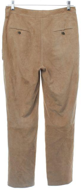 EMANUEL UNGARO Brown Lamb Leather Pants