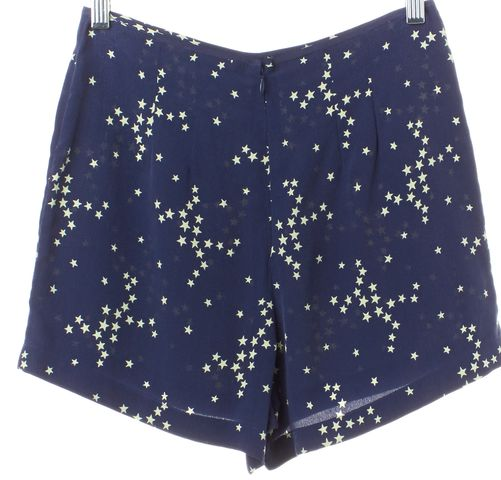 EQUIPMENT Blue Star Printed Washed Silk Mini Short Shorts