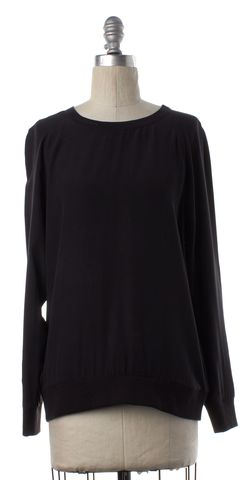 EQUIPMENT Black Silk Blouse Top