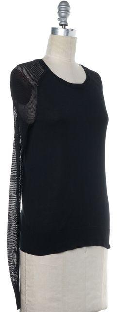 EQUIPMENT Black Silk Knit Top