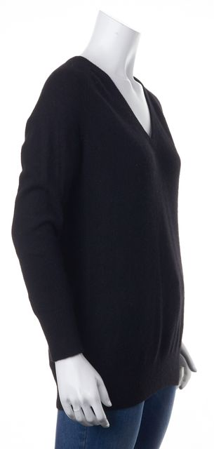 EQUIPMENT Black Cashmere V-Neck Sweater