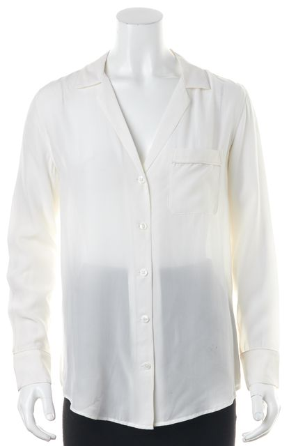 EQUIPMENT Ivory Silk Button Down Blouse