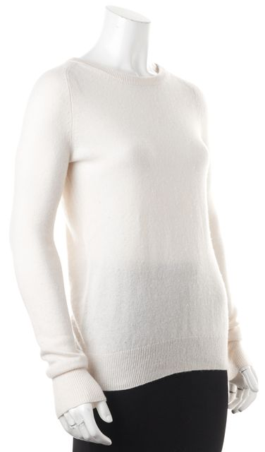 EQUIPMENT Ivory Cashmere Knit Crewneck Sweater