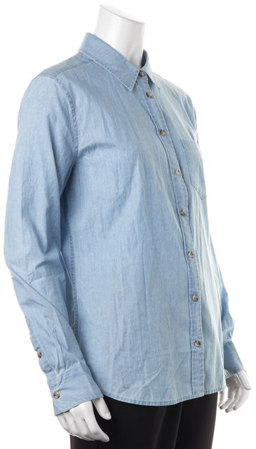 EQUIPMENT Blue Cotton Chambray Brett Button Down Shirt