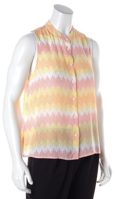 EQUIPMENT Multi-color Abstract Silk Button Down Shirt