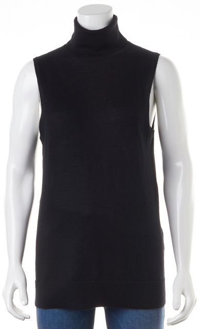 EQUIPMENT Black Cashmere Turtleneck Sleeveless Top