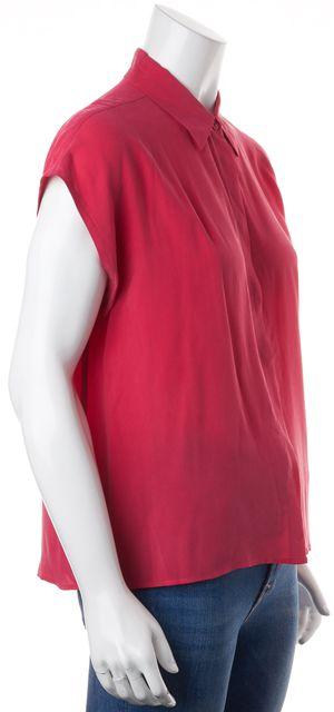 EQUIPMENT Pink Silk Cap Sleeve Button Down Shirt