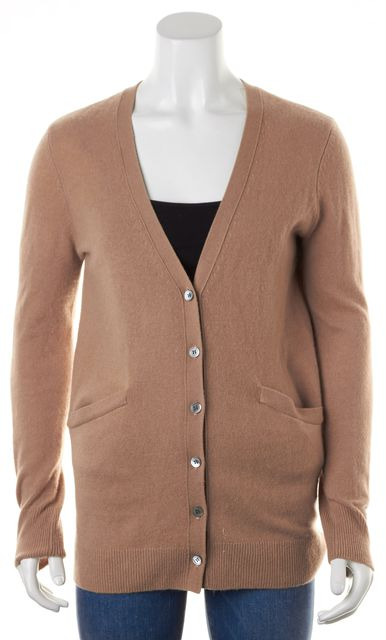 EQUIPMENT Beige Knit Long V-Neck Cardigan Sweater