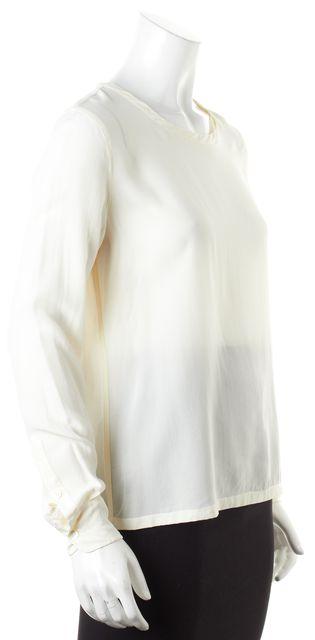 EQUIPMENT Ivory Silk Long Sleeve Blouse Top