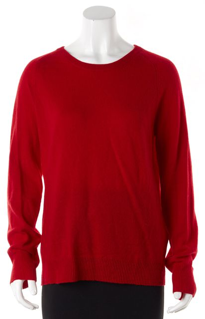 EQUIPMENT Red Cashmere Knit Crewneck Sweater