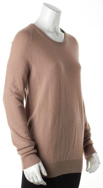 EQUIPMENT Beige Cashmere Crewneck Long Sleeve Sweater
