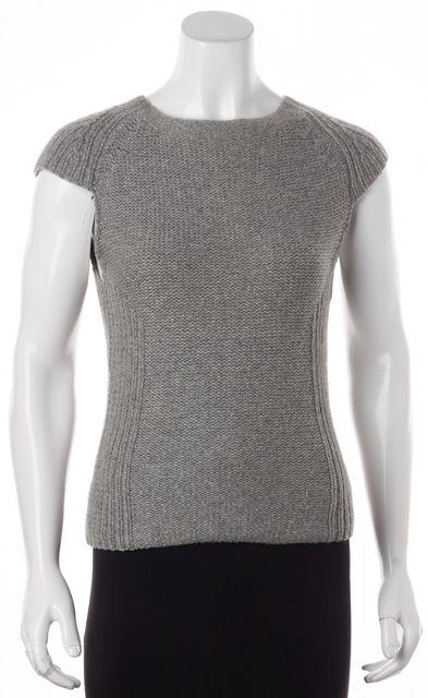 EQUIPMENT Gray Cashmere Scoop Neck Cap Sleeve Sweater