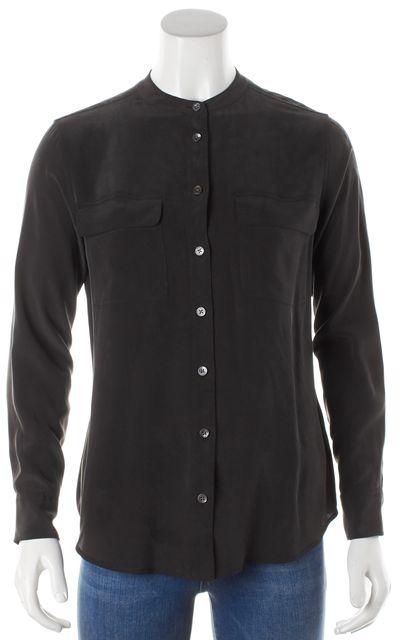 EQUIPMENT Green Silk Button Down Shirt Blouse