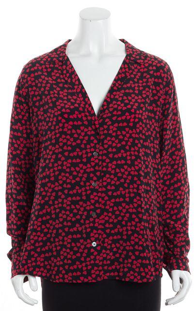 EQUIPMENT Red Heart Silk Blouse Top