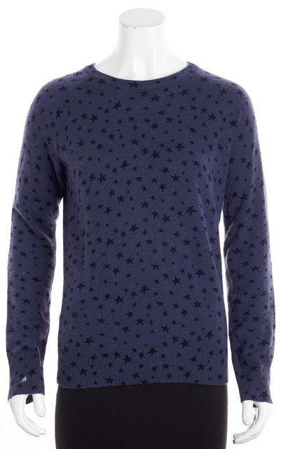 EQUIPMENT Multi Blue Cashmere Star Graphic Detail Crewneck Sweater