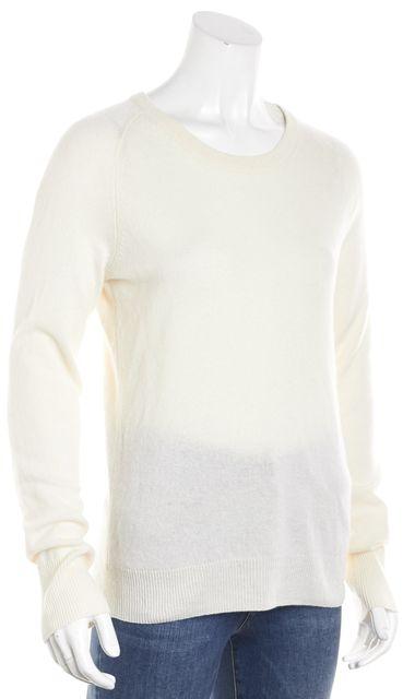 EQUIPMENT Cream White Cashmere Crewneck Sweater