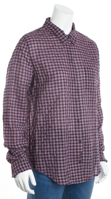 EQUIPMENT Blue Red White Plaid Button Down Shirt Top