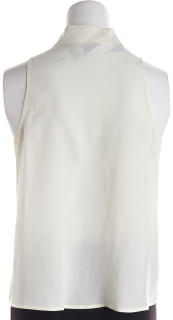 cda44dd4266ee EQUIPMENT White Silk Sleeveless Collared Button Down Shirt Top Size XS. Size