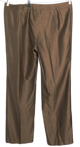 ESCADA Brown Wool Wide Leg Trouser Pants