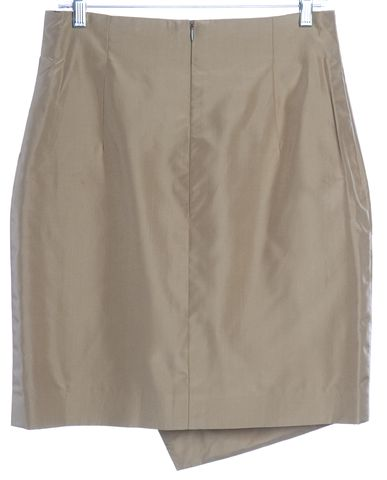 ESCADA Beige Silk Asymmetrical Skirt