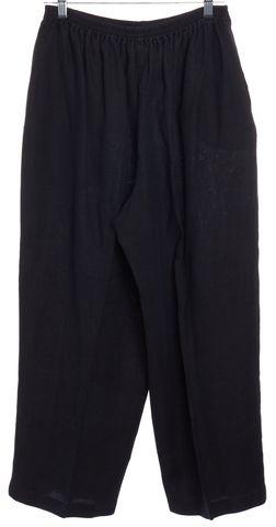 ESKANDAR Black Linen Casual Pants