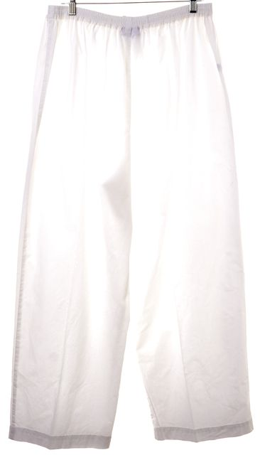 ESKANDAR White Cotton Wide Leg Palazzo Pants