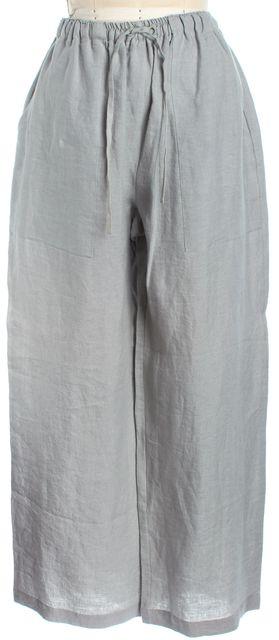 ESKANDAR Dolphin Straight Linen Skirt Back Deep Slit Pockets