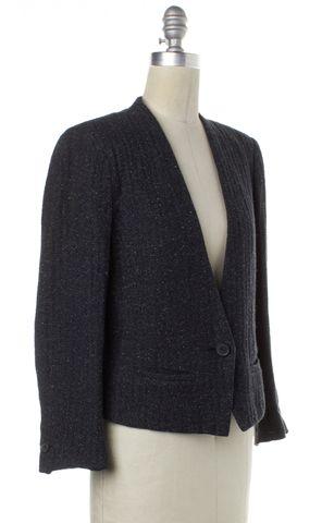 ÉTOILE ISABEL MARANT Blue White Knit Single Button Blazer Jacket