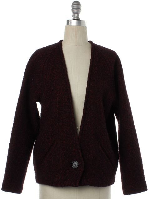 ÉTOILE ISABEL MARANT Red Black Wool Knit Cardigan