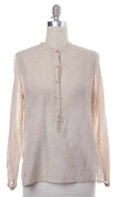 ÉTOILE ISABEL MARANT Beige White Striped Cotton Tunic Top