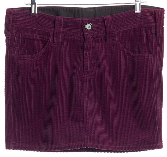 ÉTOILE ISABEL MARANT Purple Cotton Corduroy Mini Skirt
