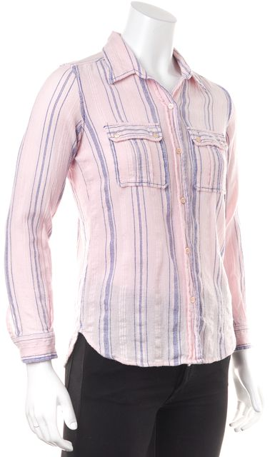ÉTOILE ISABEL MARANT Pink Blue Striped Button Down Shirt