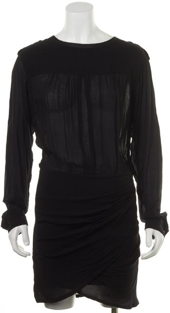 ÉTOILE ISABEL MARANT Black Sheer Blouson Dress