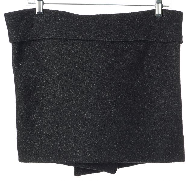 ÉTOILE ISABEL MARANT Gray Speckled Wool Wrap Mini Skirt